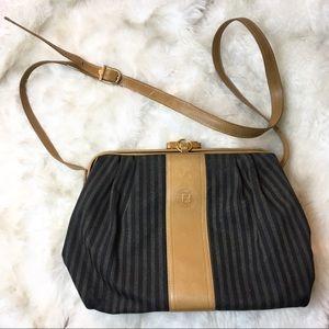 FENDI cross body bag vintage stripe metal closure